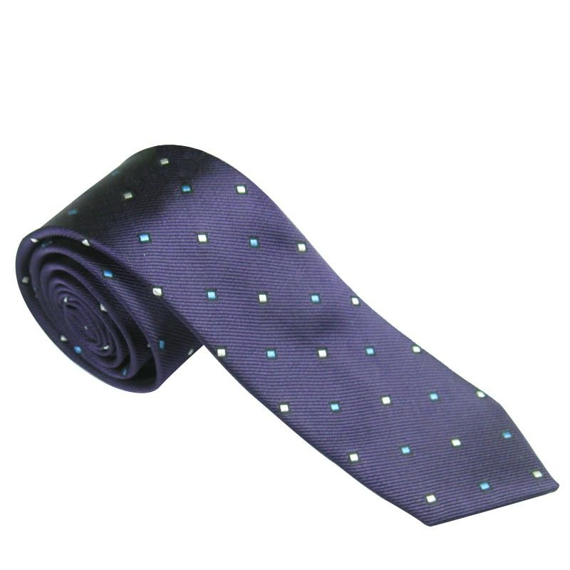 Men Slim Necktie Tie Party Wedding Classic Jacquard Woven Plain Skinny Silk