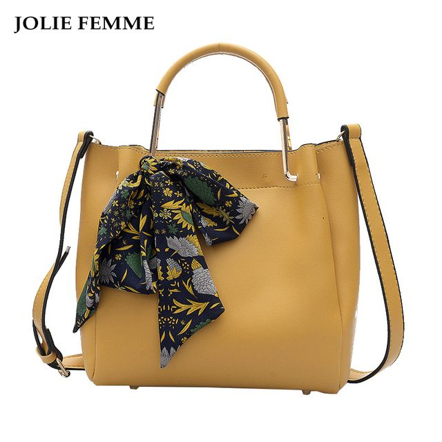 JOLIE FEMME Silk Scarf Shoulder Bag Vintage Square Litchi Grain Bag Female Messenger Bag Bolsa Femininas Saco Couro Grande