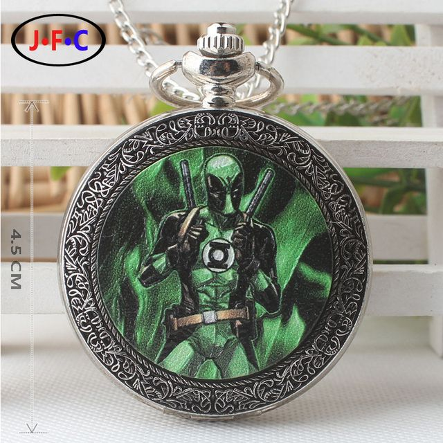 Europe and America New pattern Green Lantern quartz pocket Watch Student animation periphery fashion Leisure time Watch DS299