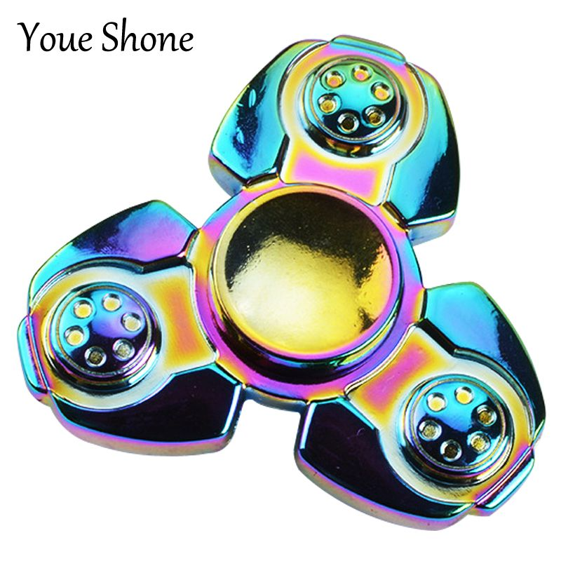 CKF PEPYAKKA Colorful EDC Tri-Spinner Fidget Toys Pattern Hand Spinner Metal Fidget Spinner and ADHD Adult decompression toys