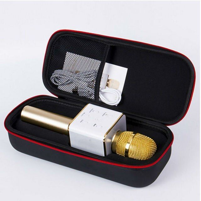 Q7 Wireless Karaoke Mini Portable Handheld Microphone Player KTV Singing Record Condenser with Bluetooth Mic Speaker for iPhone