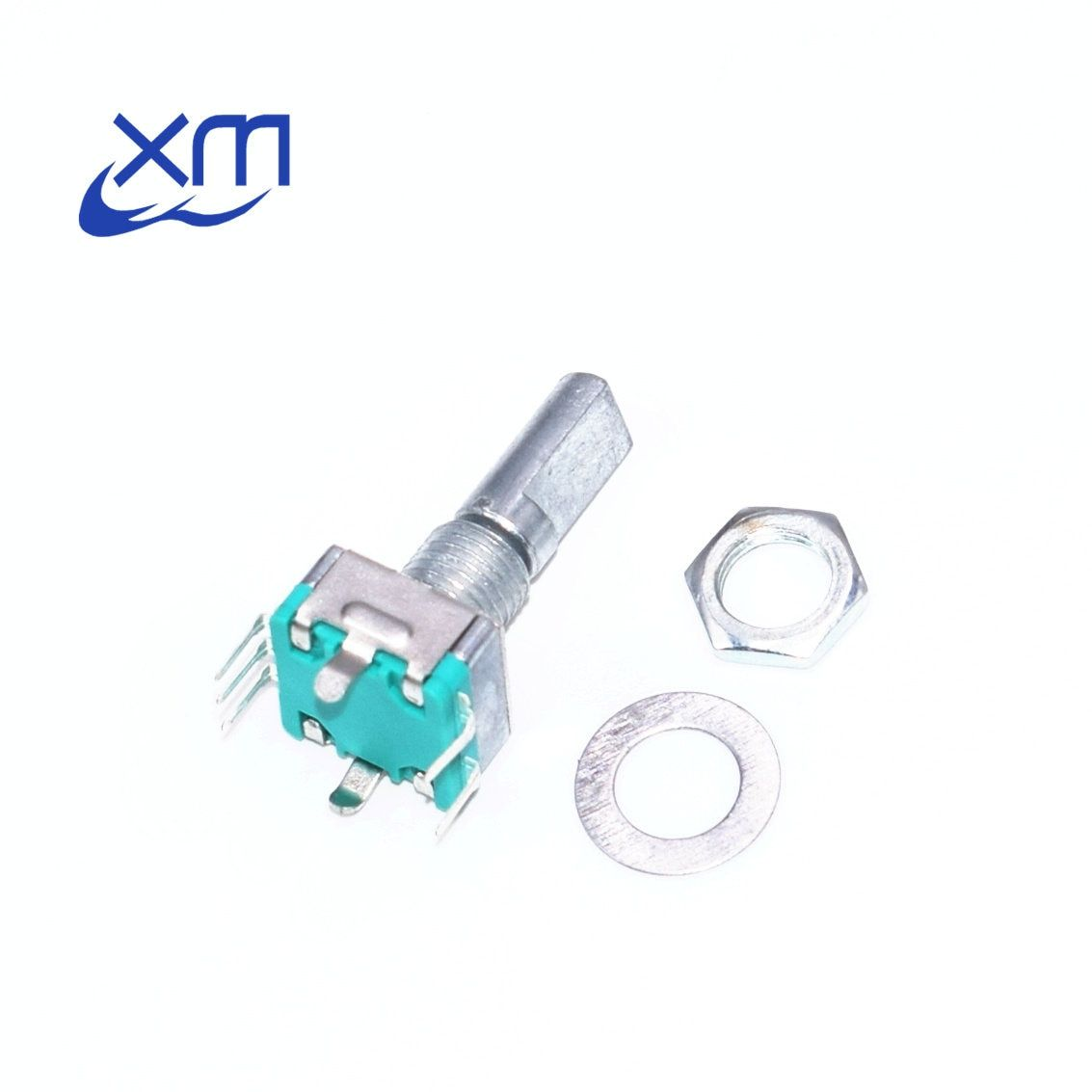 Original,Rotary encoder,code switch/EC11/ audio digital potentiometer,with switch,5Pin, handle length 20mm,free shipping 20pcs
