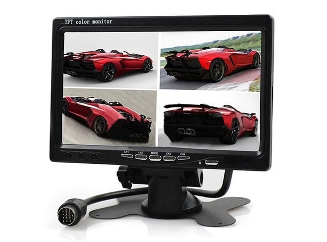 4 Way Input 9 inch TFT LCD Screen Car Monitor 4 Split Rear View Display for Rearview Reverse Camera Car TV Display For Truck