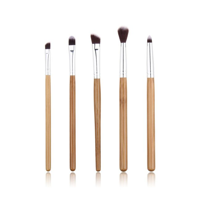Hot Selling!! 5pcs New Bamboo brushes Eyeshadow Lip Eyeliner brush Make up tool Cosmetic