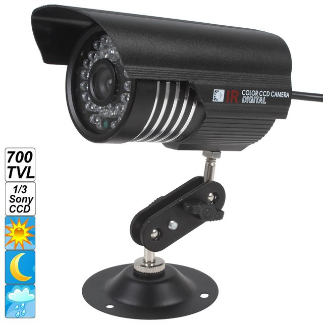 6mm Lens IP66 Waterproof Outdoor Indoor Security Cam Colorful IR 1200 TVL OSD Menu Night Vision CCD Camera with1/3 Sony sensor
