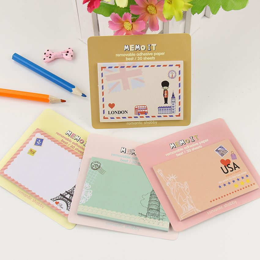 1PC Creative Stationery Cute Series Paper Memo Pad Diary Sticker Notes School Office Supplies