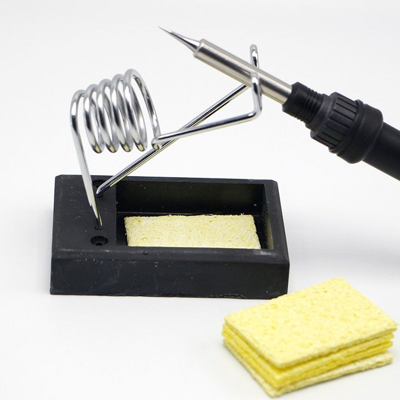 Free Shipping SY-226 Soldering Iron Support Stand Station Metal Base with 5 Replacement Sponges Soldering Iron Cleaner Strong