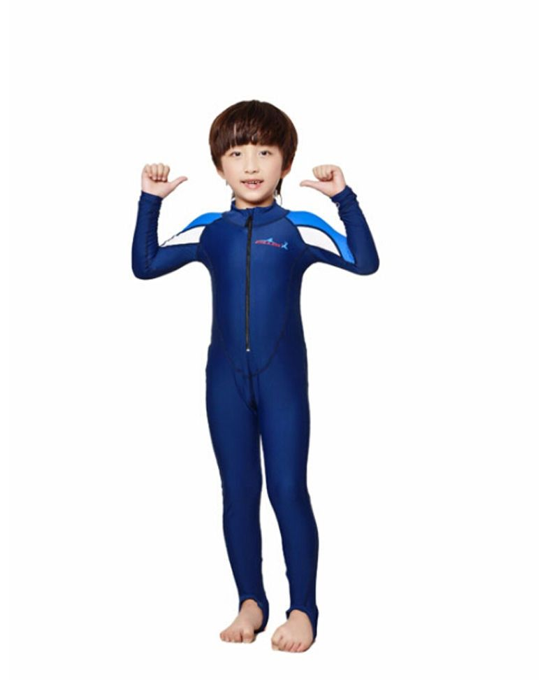 Dive&sail kids dive skin suit Lycra long sleeve wetsuit jumpsuit for boys girls swimwear