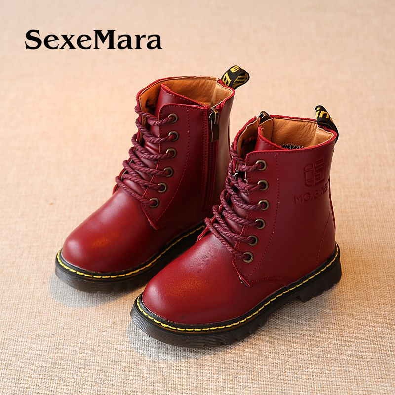 Autumn and winter new kids shoes botas Male and female Martin boots Retro single boots Korean version of cotton boots