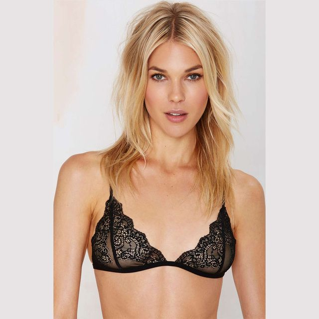 Sexy Top lace Bra Wireless Cup Brassiere Cute Elegant Bralette  Sexy Transparent Bra Fashion Crop Top