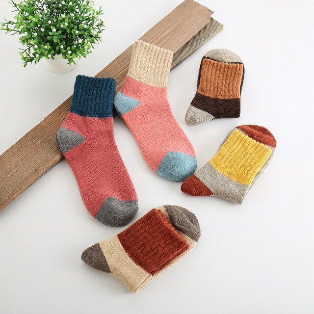 Christmas gifts new women socks winter rabbit wool sock Stitching thickening warm socks terry socks free shipping