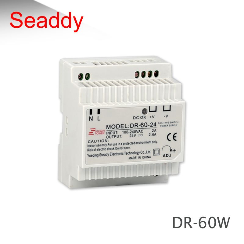 (DR-60-12) 60W 12V 5A AC TO DC power supplier IP20  din rail power supply 12volt