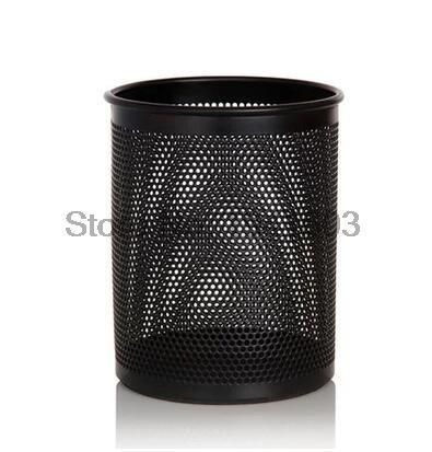 2017 Deli 9153 Colorful round pen holder round metal textured iron pen holder Office