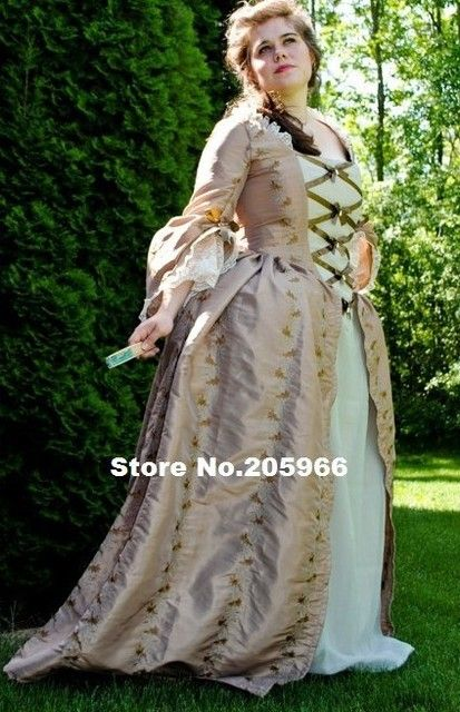 Custom Made Colonial 18th Century Rococo Dress Gown 1700s Marie Antoinette outfit /Theater Dress/Event