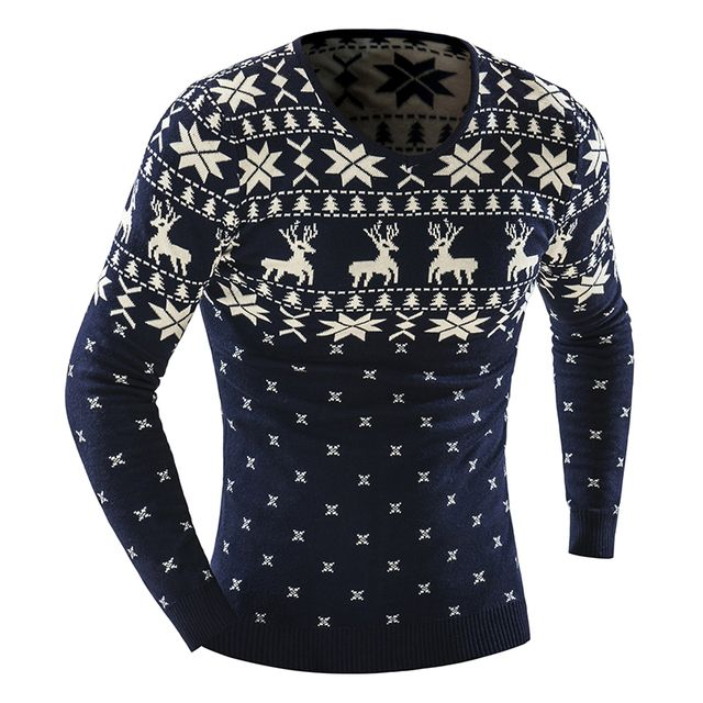 2016 Fall Fashion Brand Casual Sweater Knit V-Neck Sweater Men Sweater Slim Printing Men'S And Women'S Sweater Thick XXL