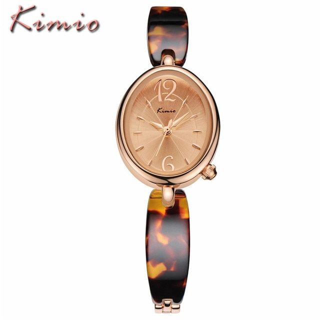 KIMIO New Brand Women Dress Bracelet Watches Business Casual Ladies Waterproof Imitation Ceramic Quartz Watch Relogio Feminino