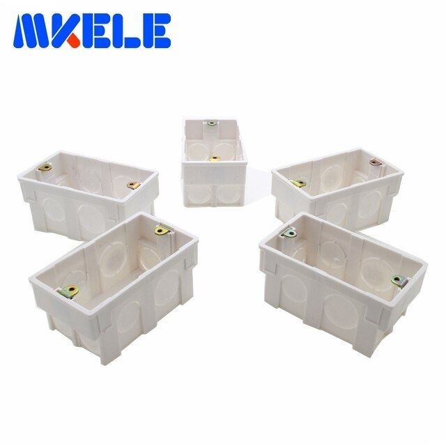 Wallpad American Standard Universal White Wall Mounting Box for Wall Switch and Socket Back Box 118*72MM