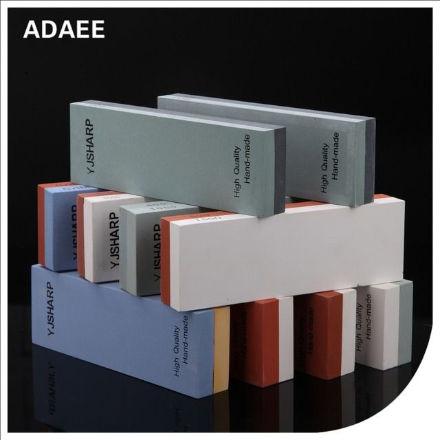 Adaee Size 7.1'*2.4*1.1 One Piece Double Sides Knife Sharpener Whetstone Sharpening Stones