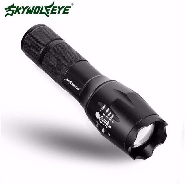 SkyWolfeye XM-LT6CREE 4000LM LED Flashlight Tactical  G700X800 Zoom Super Bright Military Grade military grade led flashlight
