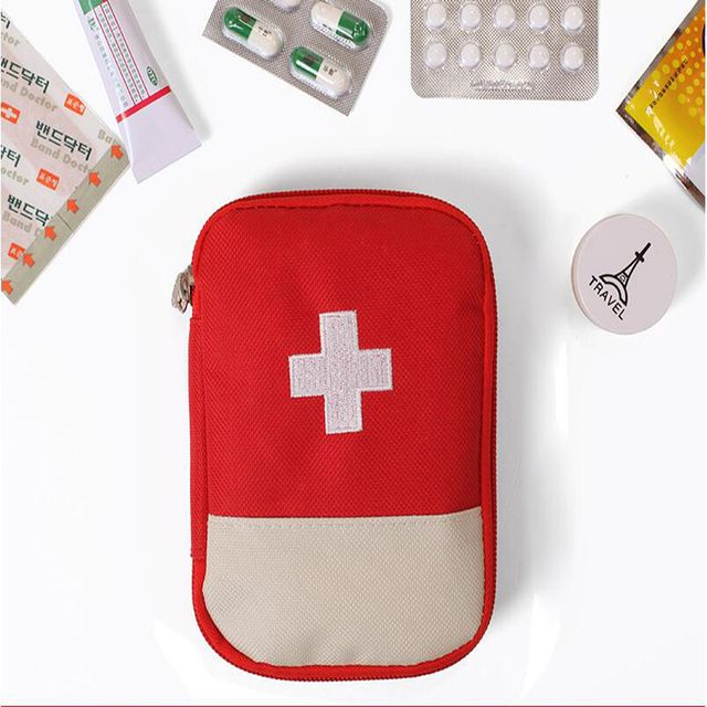 New Portable Outdoor Camping Home Survival First Aid Kit bag Case free shipping