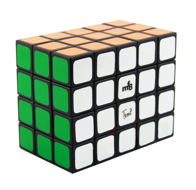 New MF8 3x4x5 345 Spring Speed Magic Cube Full Function Black Twist Puzzle 57mmx67mmx75mm Toys Free Shipping