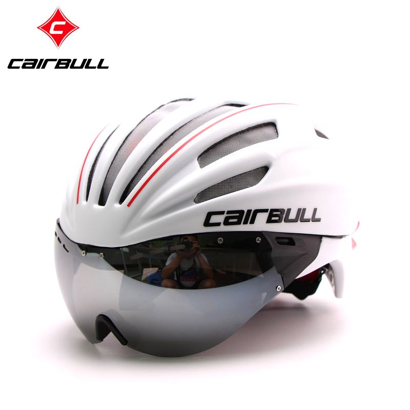 New Cycling Helmet Mountain Road Bike Helmet Sun Visor Bicycle Helmet Aero Helmet With Goggles
