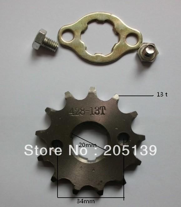 NEW 13t 13tooth 20MM sprocket tandwiel FOR 428 CHAIN motorcycle MOTO pitbike dirt ATV parts bike 125cc 150cc
