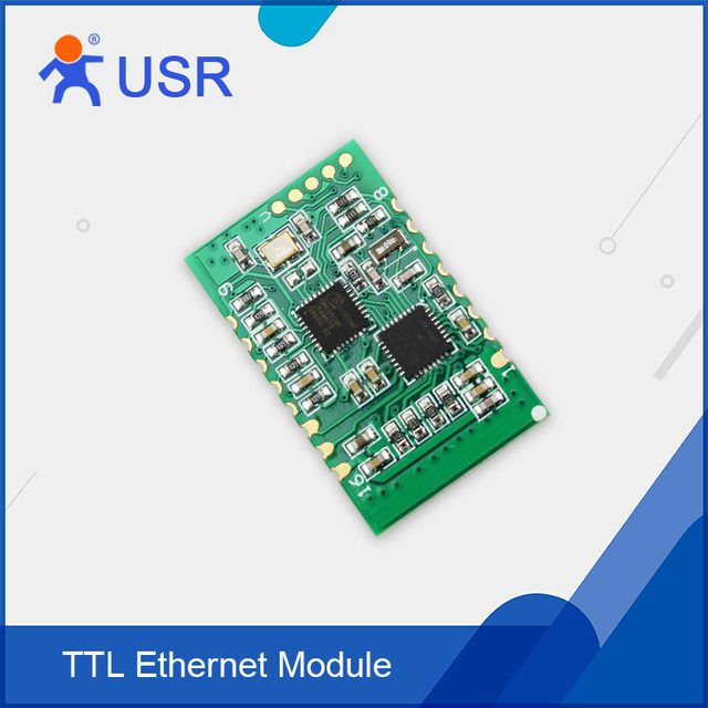 SMT Serial Ethernet Module UART TTL to RJ45/TCP IP Converter Module Low Price Tiny Size Support DNS DHCP Webpage USR-TCP232-S2