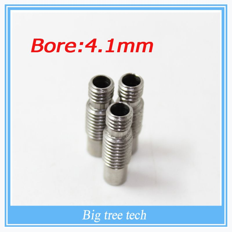 Free shipping! 10pcs 3D printer part V6 Stainless steel Nozzle Throat  for 1.75/3.0mm filament without Teflon Tube