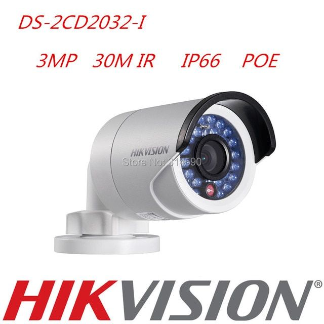 Hikvision English Version H.264 DS-2CD2032-I IP Bullet Camera 3MP CCTV Camera With POE Network Camera Replace DS-2CD2035-I