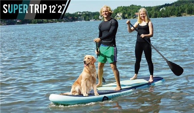 "Super Trip Stand Up Paddle board / Family SUP / Family paddle board / team SUP / Big paddle board (3.7m/12'2"")"