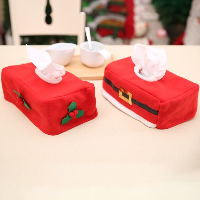 Xmas decoration tissue box cover home decor festival party new year design