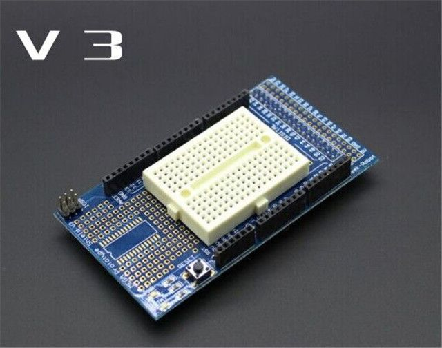 Mega2560 1280 MEGA ProtoShield V3 with 170 Tie Point Mini Breadboard Bread Board for Arduino FZ0044