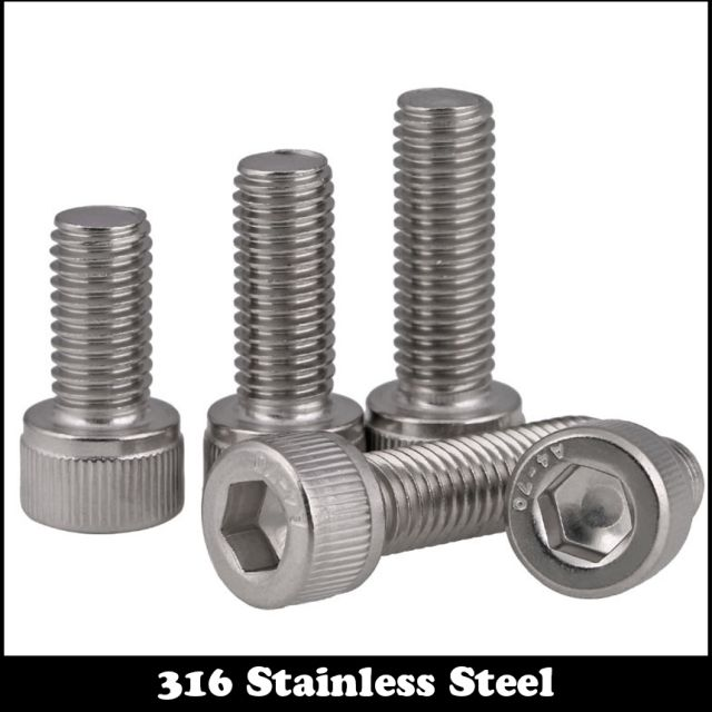 10pcs M3 45mm M4*45mm M4X45 DIN912 Screw 316 Ss Stainless Steel Cup Head bolt Inner Hexagon Socket Screw