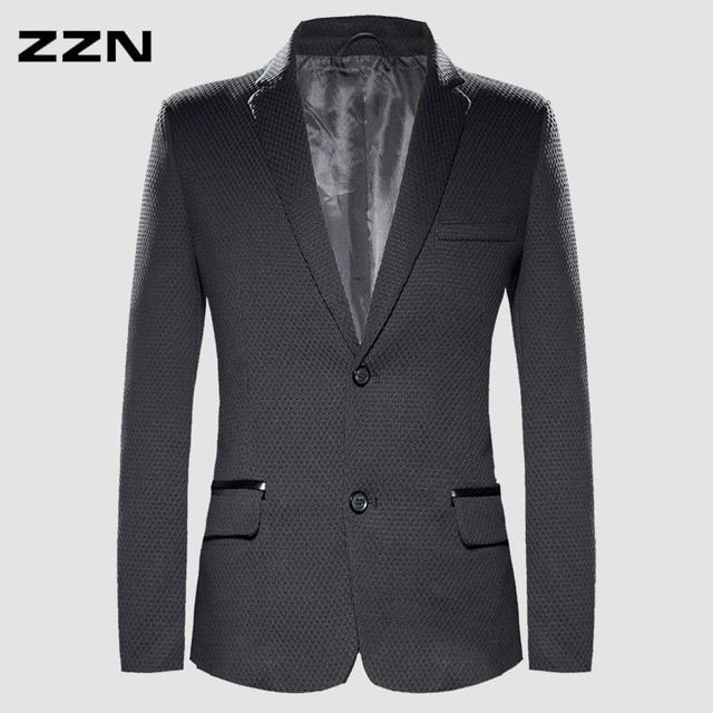 Slim bleiser masculino spring autumn blazer outerwear male single breasted  blazer small plaid blaser masculino