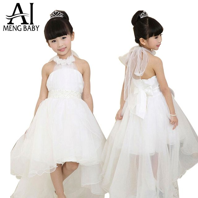 Ai Meng Baby Girls Party Dress 2017 Elegant Girl Long Evening Dress For Christening Wedding Kids Dresses For Teen Girls Clothes