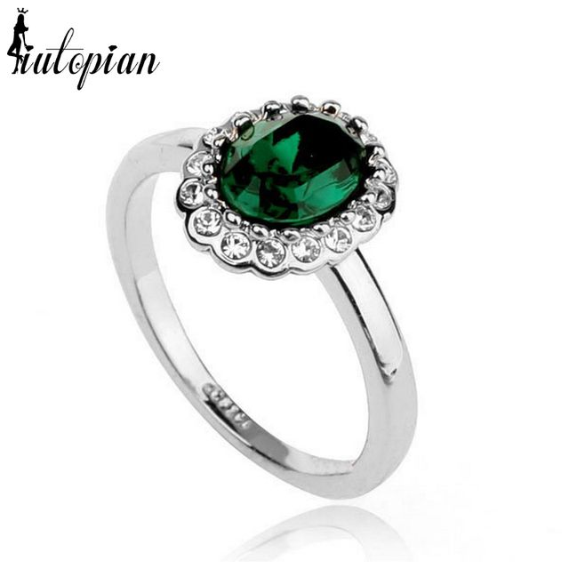 Iutopian Brand Fashion Ring For Woman With Austrian Crystal Stellux Dont Lose Color 1 #RG96274