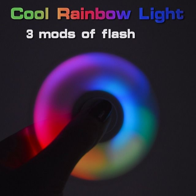 LED Finger Plastic & Metal EDC For Autism and ADHD Light  Relief Focus Anxiety Stress Wheel Toys Gift