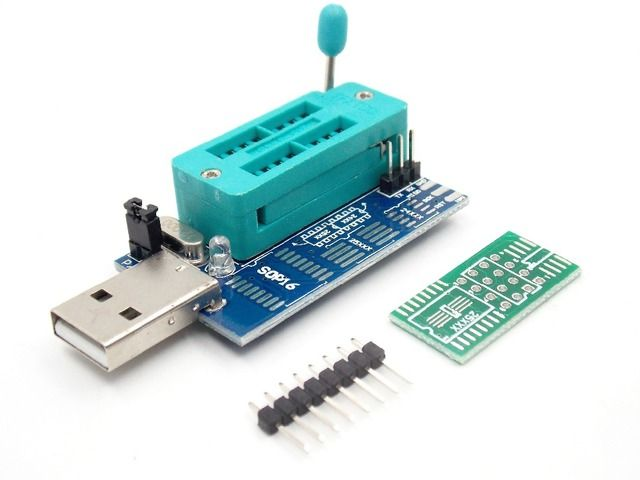 Bios Board MX25L6405 W25Q64 USB Programmer LCD Burner CH341A Progammer for 24 25 Series