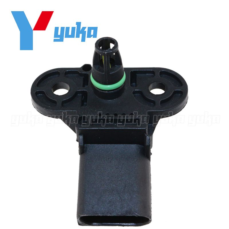 MAP Sensor Intake Air Boost Pressure Manifold Absolute Druck Sender For VW Polo Saloon Variant 1.0 1.2 1.4 06B906051 0261230031