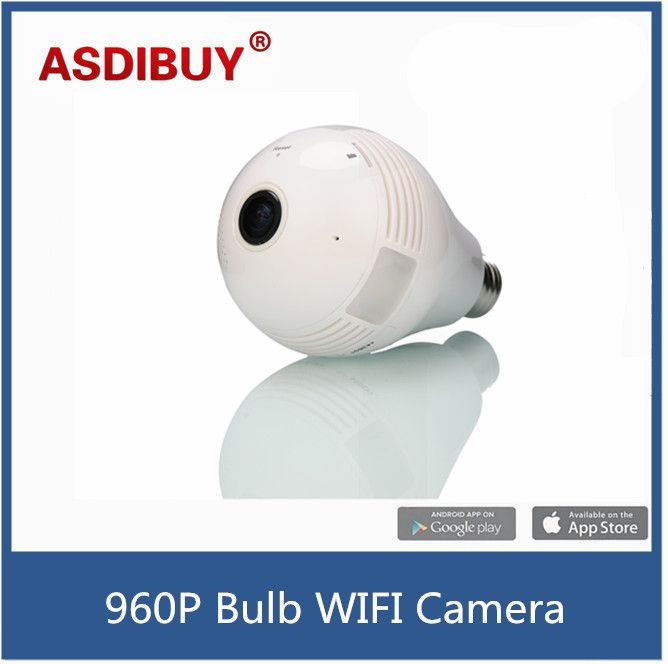 Fish eye 360 Degree Panoramic WIFI Wireless camera P2P 1.3MP HD Network full vision VR IP Camera Bulb Light Security camera