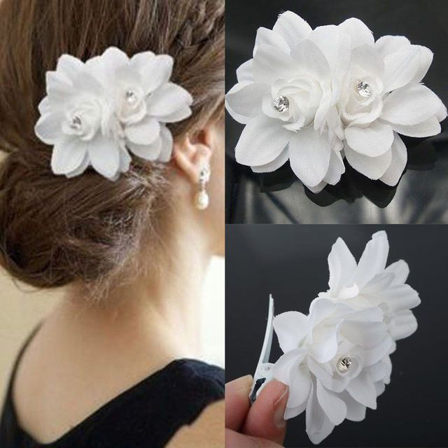 2017 New Arrival Beauty Women's Bridal Wedding Orchid Flower Hair Clip Hairpins Barrette Bridal Wedding Party Women Accessories