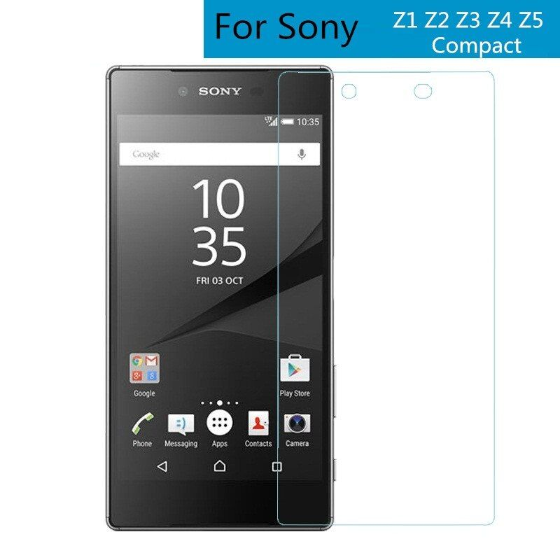 Premium 0.26mm 9H Tempered Glass Film Explosion Proof Screen Protector For Sony Xperia Z1 Z2 Z3 Z4 Z5 compact