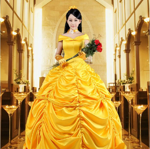 New 2017 Fantasia Women Halloween Cosplay Southern Beauty And The Beast Adult Princess Belle Costume