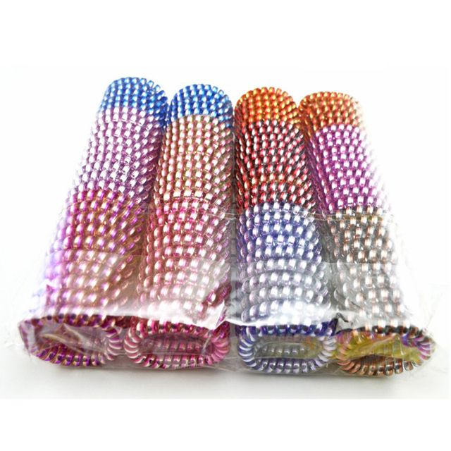 Hot Lots 100 Pcs 5.5cm Hair Accessories Elastic Hairbands Colorful Telephone Line Hair Rope Bands Ring Headwear Accessory