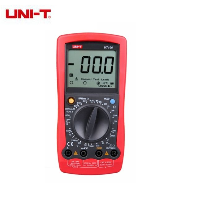 UNI-T UT106 Handheld Manual Range Automotive Multimeter Temperature & Frequency Measurement