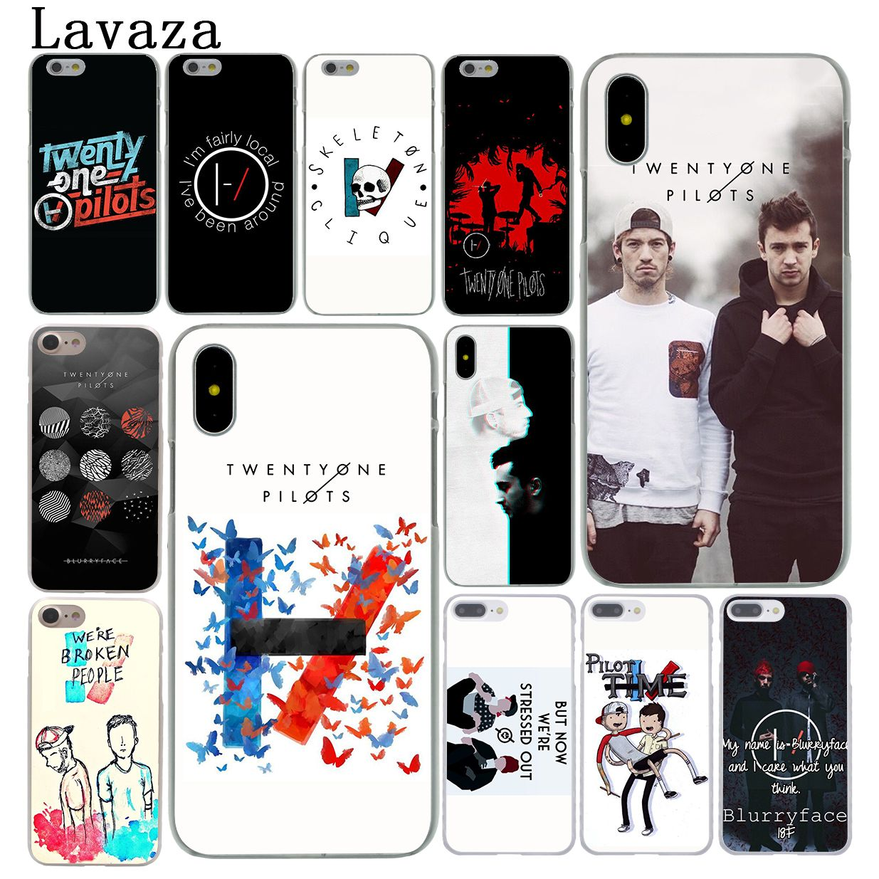 Lavaza Twenty One Pilots 21 Pilots Music Hard Phone Case for iPhone XR X XS 11 Pro Max 10 7 8 6 6S 5 5S SE 4S 4 Cover