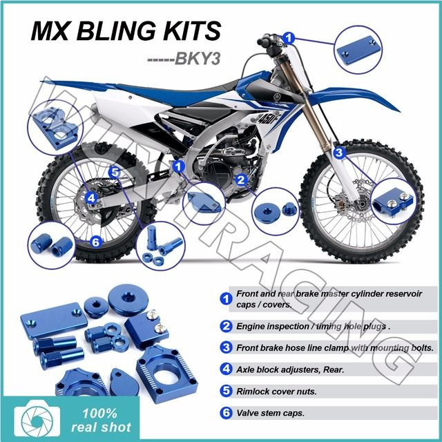 BLUE CNC New MX Motocross Offroad Bling Kits for Yamaha WR-F WR250F WRF 250 05-14 WRF 450 WR450F 2005-2011 10 09 08 07 06