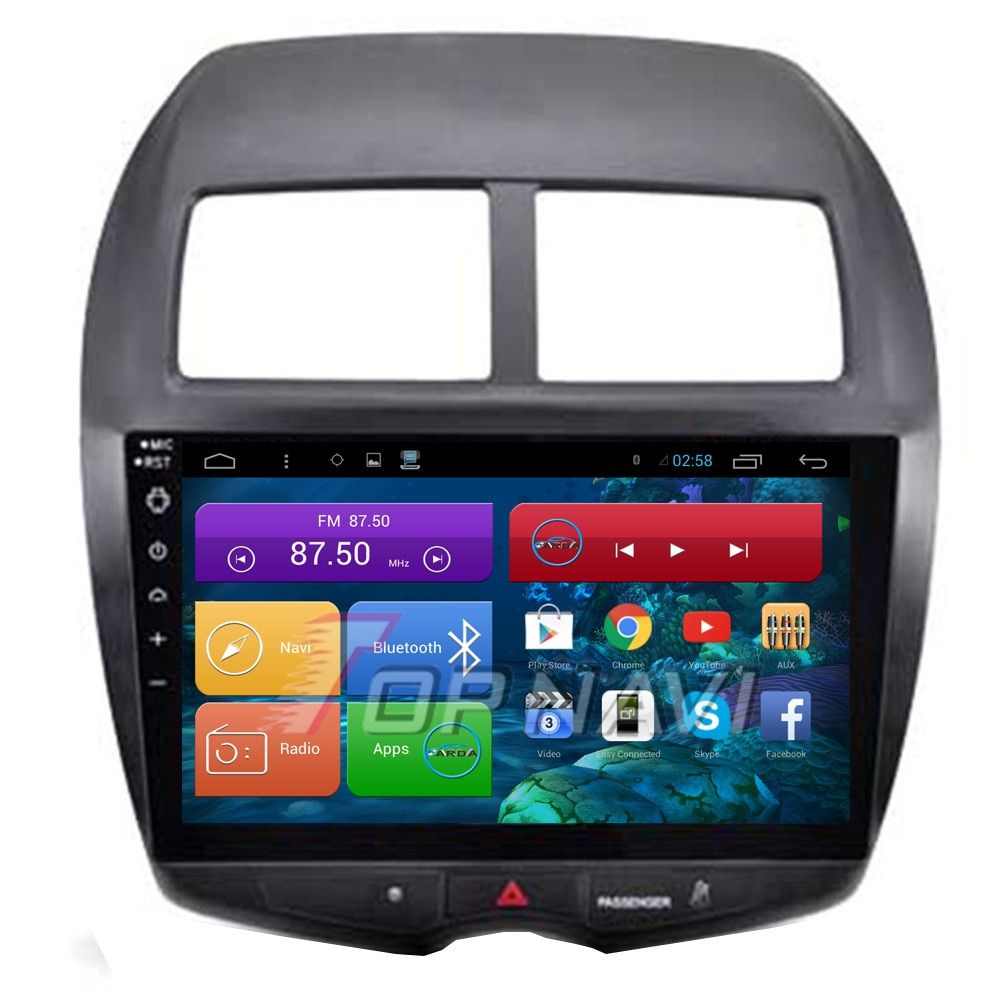 "Topnavi 10.2"" Quad Core Android 6.0 Car GPS Navigation for Mitsubishi ASX 2010 2011 2012 2013 2014 2015 Autoradio,NO DVD"