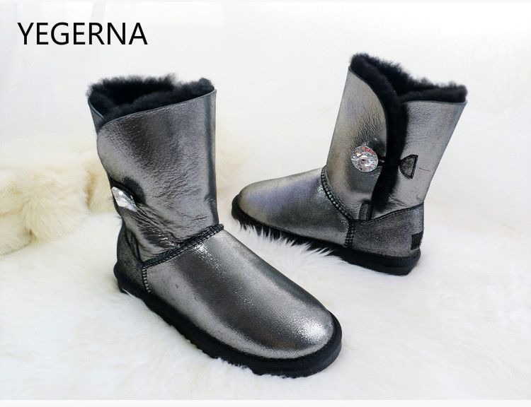 Hot Sale Australia Boots  Women Boots Genuine Sheepskin Leather Snow Boots 100% Natural Fur Snow Boots Warm Wool Winter Boots